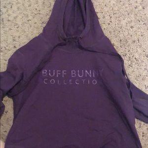 Buff bunny cropped hoodie